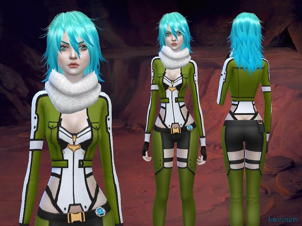 Sinon Outfit By Lavoieri At Tsr 187 Sims 4 Updates