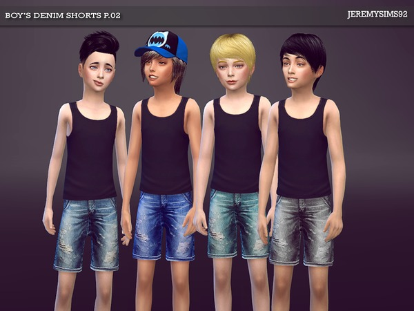 Sims 4 Boys Denim Shorts P02 by jeremy sims92 at TSR