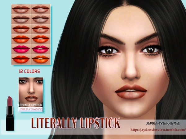 Sims 4 Literally Lipstick (f) by jeremy sims92 at TSR