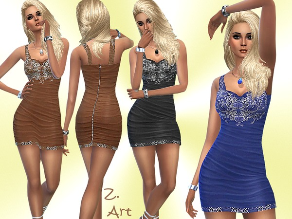 Sims 4 Super Stretch dress by Zuckerschnute20 at TSR
