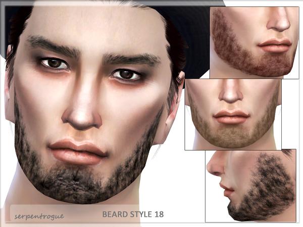 Sims 4 Beard Style 18 by Serpentrogue at TSR