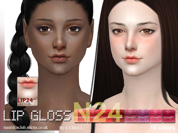 Sims 4 Lipstick 24F by S Club WM at TSR