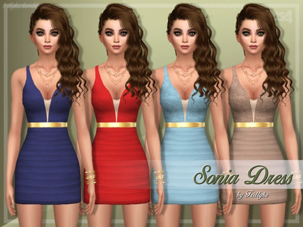 Sims 4 Sonia Dress by Trillyke at TSR