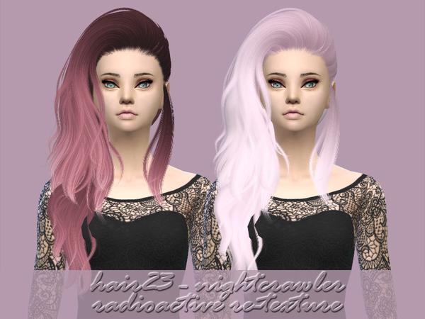 Sims 4 Nightcrawler hair 23 re texture by Radioactive mess at TSR