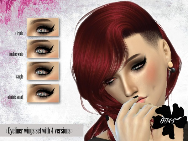 IMF Eyeliner wings set by IzzieMcFire at TSR image 553 Sims 4 Updates