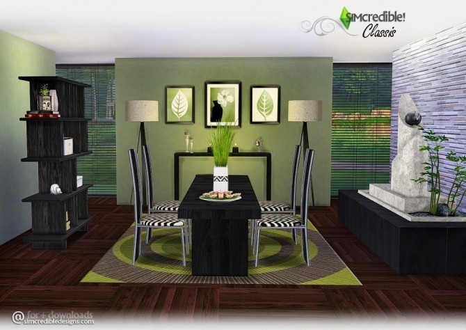 Classis diningroom at SIMcredible! Designs 4 image 5710 670x474 Sims 4 Updates