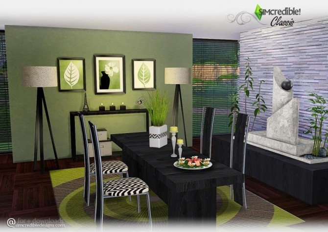 Classis diningroom at SIMcredible! Designs 4 image 5810 670x474 Sims 4 Updates