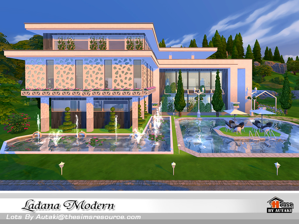 Sims 4 Ladana Modern house by autaki at TSR