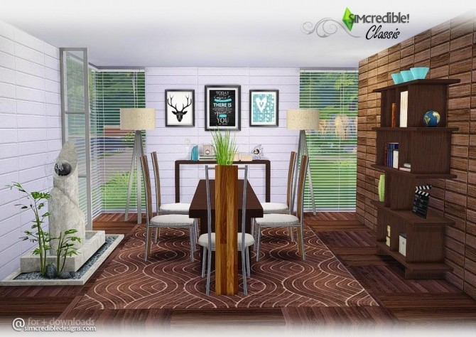 Sims 4 Classis diningroom at SIMcredible! Designs 4