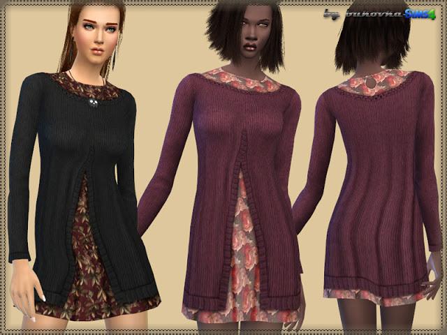 Dress Floral Print at Bukovka image 601 Sims 4 Updates