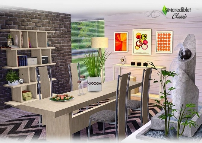 Classis diningroom at SIMcredible! Designs 4 image 6010 670x474 Sims 4 Updates
