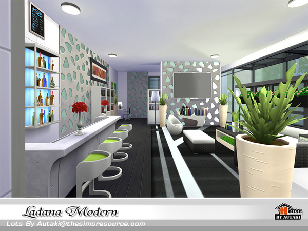 Ladana Modern house by autaki at TSR image 605 Sims 4 Updates