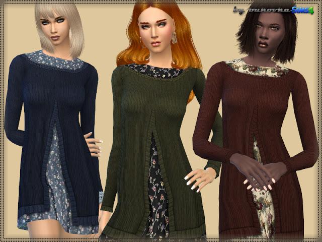 Dress Floral Print at Bukovka image 611 Sims 4 Updates