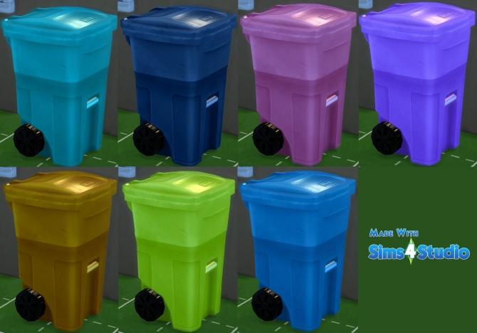Kitchen Trash Bin On Wheels: Trash Bin » Sims 4 Updates » Best TS4 CC Downloads