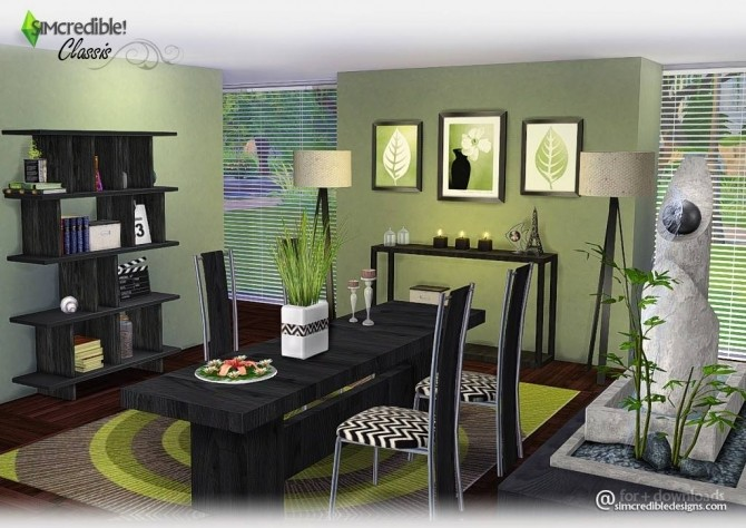 Classis diningroom at SIMcredible! Designs 4 image 6114 670x474 Sims 4 Updates