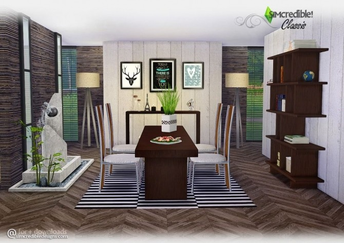 Classis diningroom at SIMcredible! Designs 4 image 6211 670x474 Sims 4 Updates