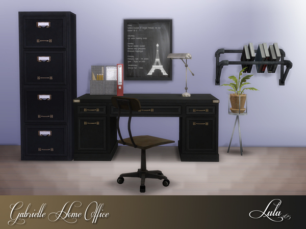 Sims 4 Gabrielle Office by Lulu265 at TSR