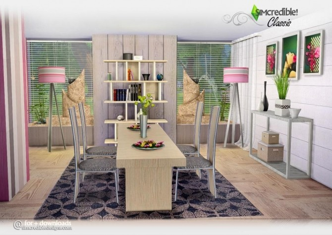 Classis diningroom at SIMcredible! Designs 4 image 6310 670x474 Sims 4 Updates
