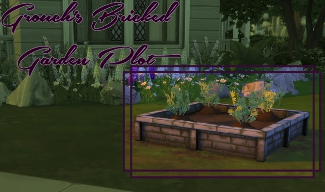 Bricked Garden Plot by Grouchy Old Sims at SimsWorkshop image 633 670x396 Sims 4 Updates
