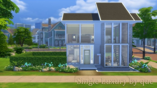 Sims 4 Single Luxury house by quiescence90 at Mod The Sims