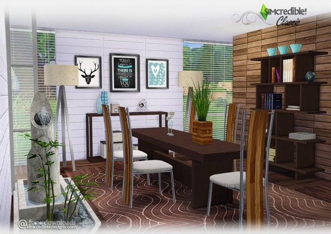 Classis diningroom at SIMcredible! Designs 4 image 6410 670x474 Sims 4 Updates