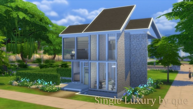 Single Luxury house by quiescence90 at Mod The Sims image 649 670x377 Sims 4 Updates
