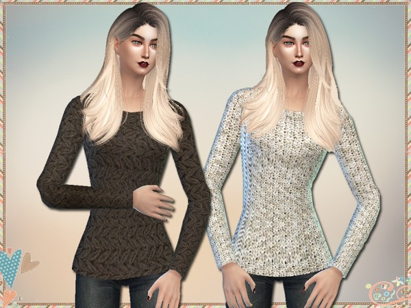 Sims 4 Licia Sweaters by Simlark at TSR