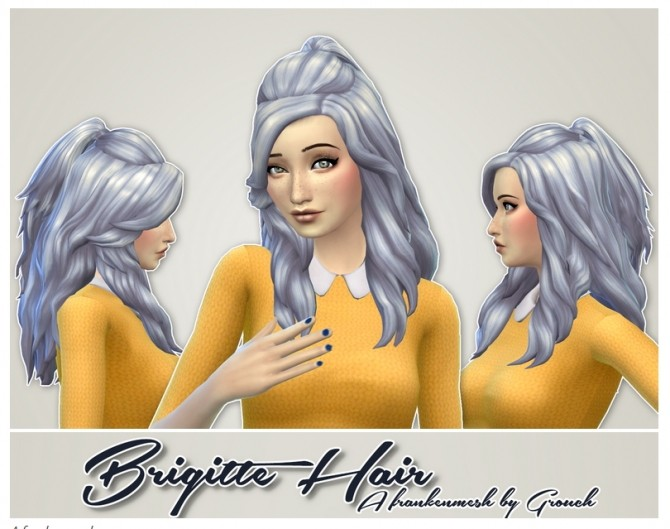 Sims 4 Brigitte Hair frankenmesh by Grouchy Old Sims at SimsWorkshop