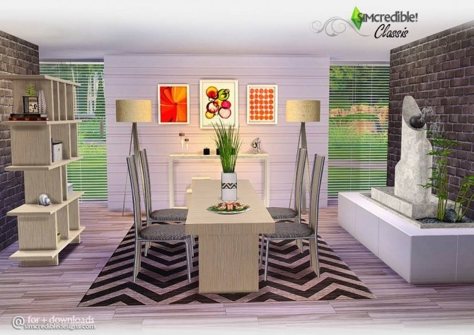 Classis diningroom at SIMcredible! Designs 4 image 659 670x474 Sims 4 Updates