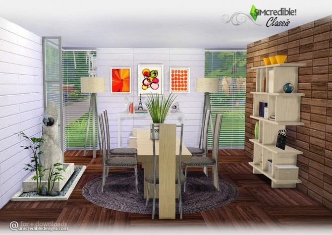 Classis diningroom at SIMcredible! Designs 4 image 669 670x474 Sims 4 Updates