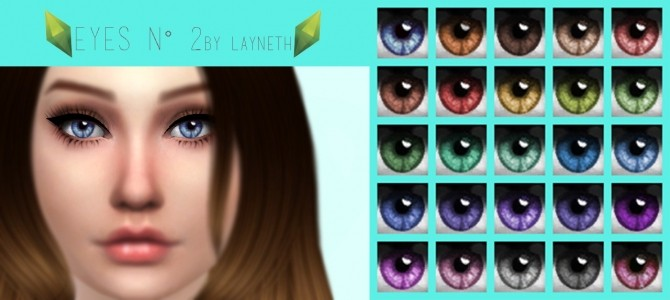Eyes N°2 by Layneth at SimsWorkshop image 686 670x300 Sims 4 Updates