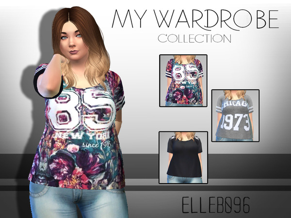 My Wardrobe Collection t shirts by Elleb096 at TSR image 694 Sims 4 Updates