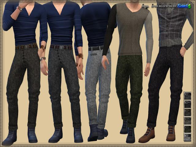 Sims 4 Tweed Pants & Buttons at Bukovka