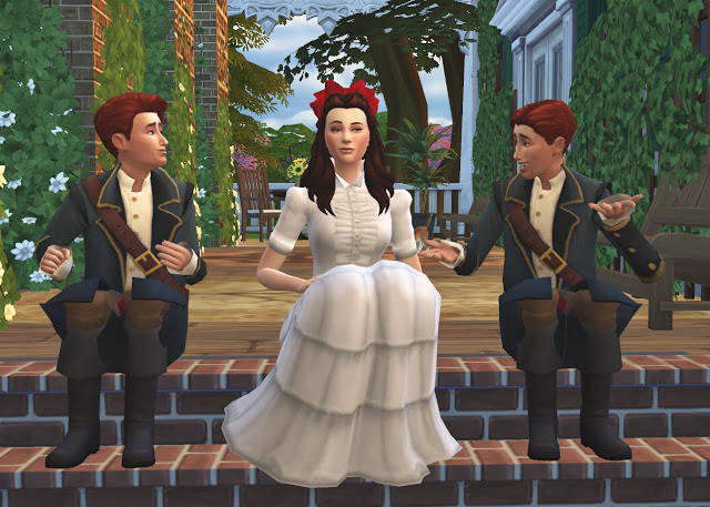 SCARLET & RHETT from GONE WITH THE WIND by Anni K at Historical Sims Life image 698 Sims 4 Updates