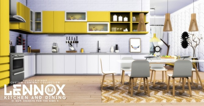 Lennox kitchen and dining set at simsational designs for Sims 2 kitchen ideas
