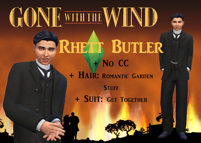 SCARLET & RHETT from GONE WITH THE WIND by Anni K at Historical Sims Life image 7115 Sims 4 Updates
