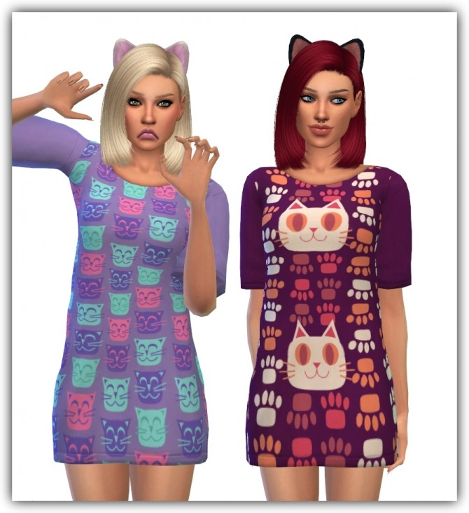 Sims 4 Sentate 's Milk dress recolors Puurty Edition by maimouth at SimsWorkshop