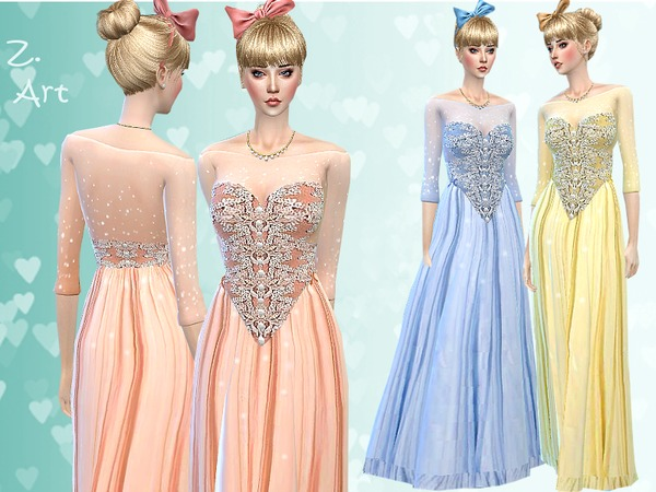 Cinderella Gown by Zuckerschnute20 at TSR image 720 Sims 4 Updates