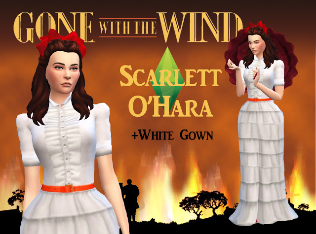 SCARLET & RHETT from GONE WITH THE WIND by Anni K at Historical Sims Life image 7212 Sims 4 Updates