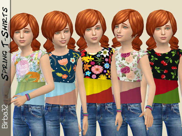 Sims 4 Spring T Shirt by Birba32 at TSR