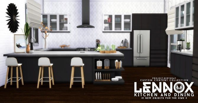 Lennox Kitchen And Dining Set at Simsational Designs image 727 670x349 Sims 4 Updates