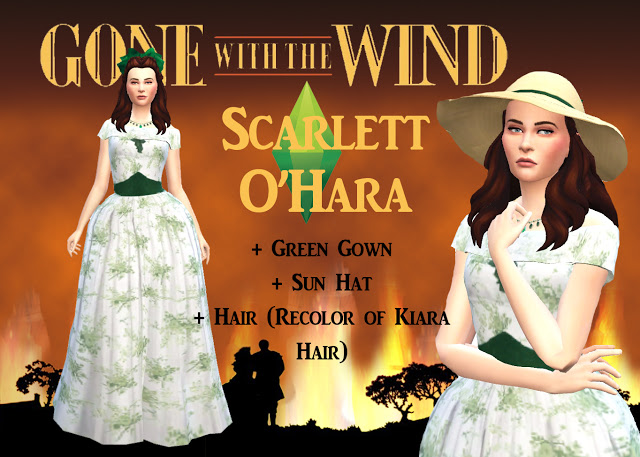 SCARLET & RHETT from GONE WITH THE WIND by Anni K at Historical Sims Life image 7311 Sims 4 Updates