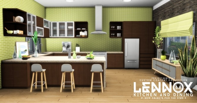 Lennox kitchen and dining set at simsational designs for Kitchen ideas sims 4