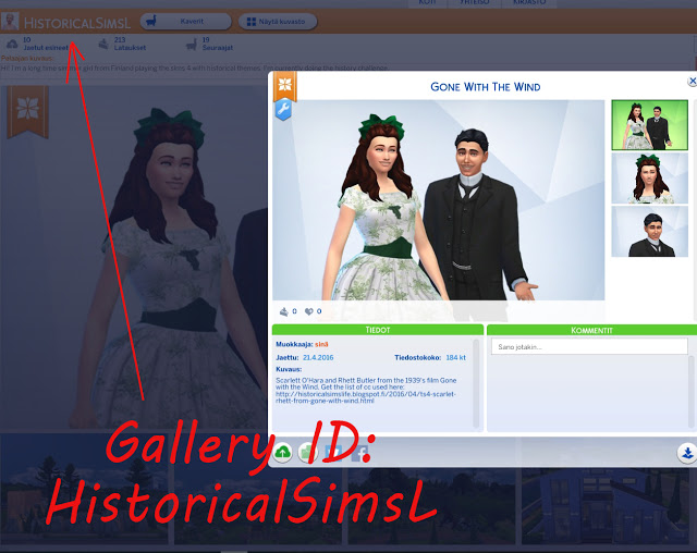 SCARLET & RHETT from GONE WITH THE WIND by Anni K at Historical Sims Life image 7411 Sims 4 Updates
