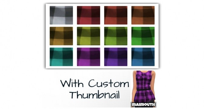 Sims 4 Checked Peplum Top by maimouth at SimsWorkshop