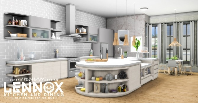 Lennox Kitchen And Dining Set at Simsational Designs image 747 670x349 Sims 4 Updates
