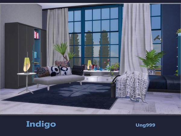 Indigo bedroom by ung999 at TSR image 750 Sims 4 Updates