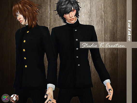 Japanese School Uniform for males at Studio K Creation image 77 Sims 4 Updates