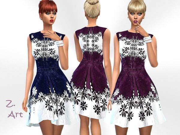 Sims 4 Amsterdam charming chiffon dress by Zuckerschnute20 at TSR