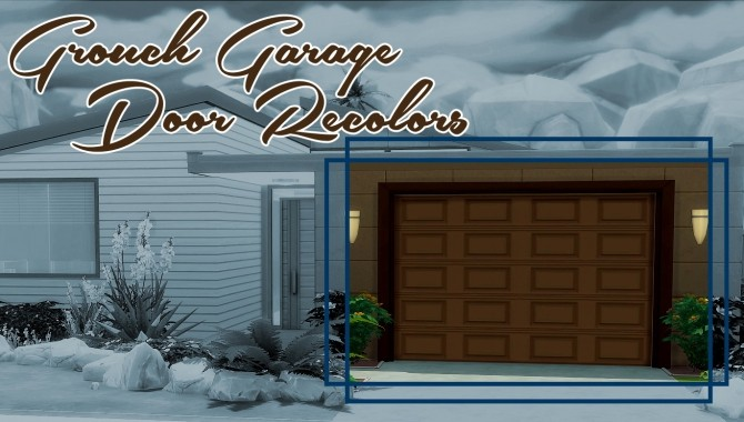 Garage Door Recolors By Grouchy Old Sims At Simsworkshop Sims 4
